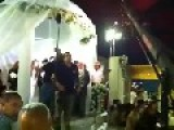 Israeli Wedding Guests Flee As Rockets Land Nearby And Are Intercepted