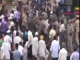 Indian Police Disperse Protesters With Lathi Charge And Water Cannon