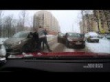 Idiot Driver Is Dangerous Even Outside Of A Car