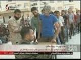 Insurgents Surrender At Moadimiyah And Start Cheering Bashar! Allah Souria Bashar Ou Bas!