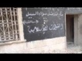ISIS Flags Painted Near Aleppo