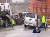 Icy Roads Lead To 65 Car Pile Up - I-290 Worcester Mass