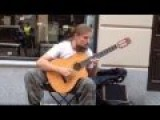 Impressive Talented Polish Street Guitarist