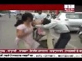 Indian Hindu Women Beating And Punching Up Her Husband