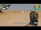 Iraqi Army Firing Rockets From Back Of A Pick Up Truck!