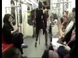 Iranian Girl Not Giving A Fuck Dancing On Subway Train