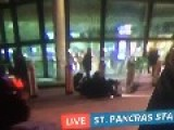 Itv Live News,man Gets Hit By Motorbike Out Side Station