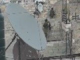 Israeli Soldier Has A Hard Time Climbing A Wall
