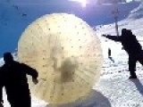 Inflatable Ball Ride Goes Horribly Wrong
