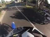 Idiotic Dirtbike Rider Crashes Himself And Bike Through Suburban Fence!