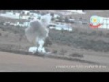 ISIS Tank Destroyed In Kobani By YPG Kurdish Fighter Syria