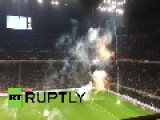 Italy: See Police Clear Croatian Fans As Flares Halt Croatia-Italy Euro 2016 Qualifier