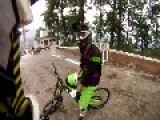 Insane First Person View Of Urban Downhill Mountain Biking