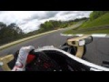 IndyCar Driver Wears GoPro On His Helmet While Driving Around In Practice