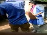 Indian Teen Beating A Girl In Street