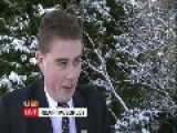 Irish Schoolboy Talking About The Snow.... I Think