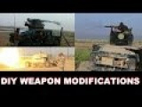 Iraqi Battlefield Engineering DIY Weapon Modifications - Humvees With MG3 Or BTR-94 Gun & Mobile T-55 Turret Artillery