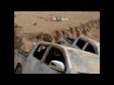 ISIS Convoy Fleeing Mosul Destroyed On The Ground Footage