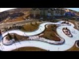 Ice Skating Loop Filmed By A Drone - Maple Grove, MN