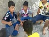 Iraqi Boys Playing New Game