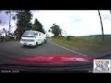 Incredible Near Miss At 100kph - BMW Nearly Flips!