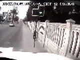 Idiot Driver Makes A BMW Crash Head On With A Truck