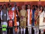 India: Modi Works The Crowd At Mumbai Rally