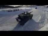Ice Drifting Tanks - M1 Abrams And Leopard 2 Tanks Show Off Their Drifting Skills In Norway