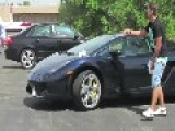 Idiot Gets Tasered For Messing With Man's Lamborghini