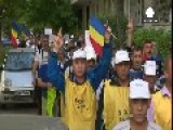 I Would Walk 200 Miles… Marching Romanian Miners Reach Bucharest