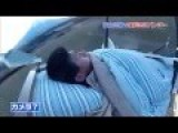 Japanese Prank - Launches Sleeping Man 150 Feet Into The Air