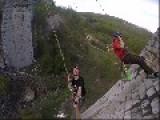 Jugglers Pendulum Swing From Bridge