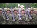 Japanese Female Brigade Parade To Display Combat Spirit