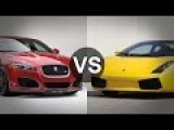 Jaguar XFR Supercharged Vs Lamborghini Gallardo 520HP Street Race