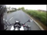 Jerk Pedestrian Smacks Biker For No Reason