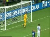Joe Hart Swears Reaction After Pirlo Free Kick World Cup 2014 1080p.mp4