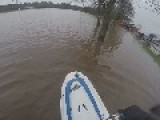Jet Skiing Through Flooded Park