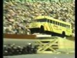 Just A School Bus Jumping 20 Motorcycles