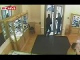 Jewelry Store Robbery Didn't Go To Plan - Surveillance Footage