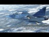 JAS 39 Gripen Dropping Bombs During Training In Sweden