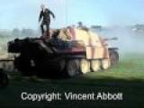 JAGDPANTHER - Firing It's Main 88mm Gun