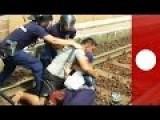 Jihadi Pig Pulls Wife And Baby Onto Train