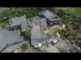 Japan Earthquake Drone View