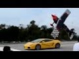Just A Plane Racing A Lamborghini