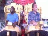 Kevin Hart Screaming While Riding Roller Coaster