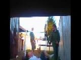 Kid Runs Into Fence Playing Australian Football