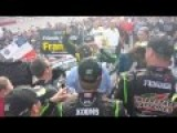 Kyle Busch Popping Bottles Post Win! Fontana 2014