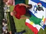 Kurd Clients Of Zionists Worship The Flag Of Israel
