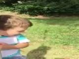 Kid Injured Twice Riding Rope Swing