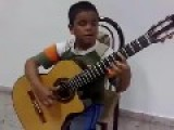 Kid Plays Titanic Theme Song On Guitar